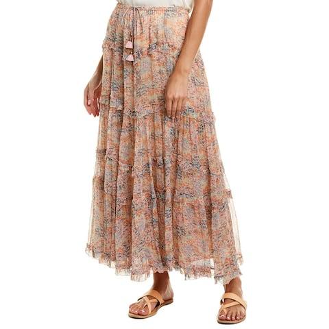 Love Sam Chiffon Midi Skirt