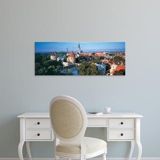 Easy Art Prints Panoramic Images's 'High angle view of a town, Tallinn, Estonia' Premium Canvas Art