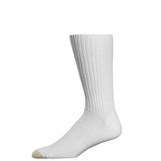 Gold Toe Men's Fluffies Cotton Crew Socks, Shoe Size 6 - 12 1/2