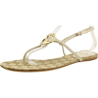 Gucci Nappa Moorea T-Strap sandal Women Open Toe Leather Sandals