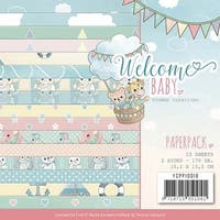 """Welcome Baby; Double-Sided Designs - Find It Trading Yvonne Creations Paper Pack 6""""X6"""" 23/Pkg"""