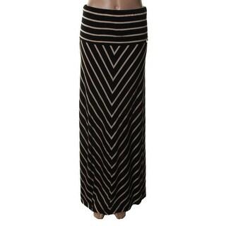Calvin Klein Womens Jersey Fold-Over Maxi Skirt - XS