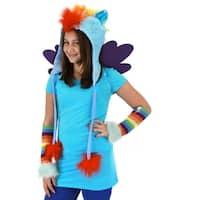 My Little Pony Rainbow Dash Costume Hoodie Hat - Blue