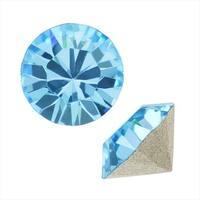 Swarovski Crystal, 1088 Xirius Round Stone Chatons ss29, 12 Pieces, Aqua