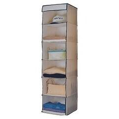 Homebasix C0126JF5000 Canvas Sweater Shelf, 6-Tier
