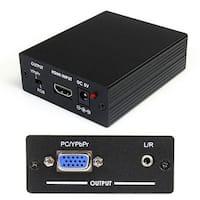 Startech Hdmi To Vga Video Adapter Converter With Audio - Hd To Vga Monitor 1920X1200 1080P - Hdmi To Vga Hd15