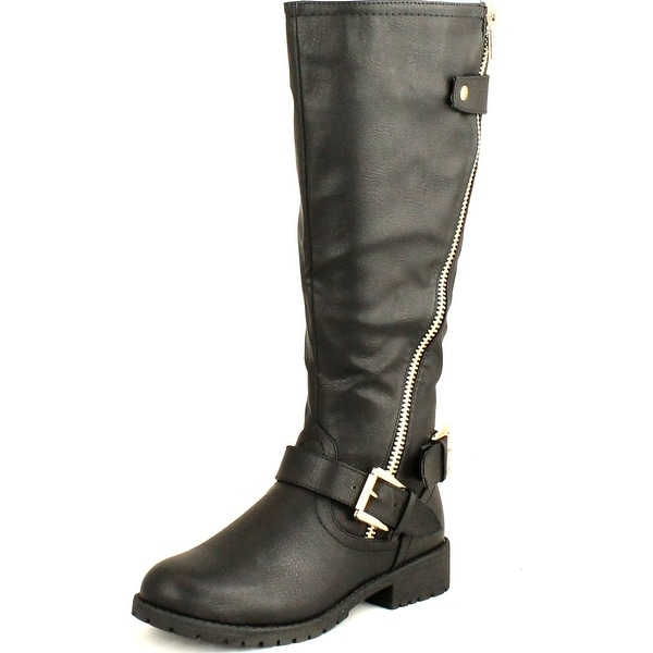 Nature Breeze Womens Angelica-01 Round Toe Knee High Stylish Riding Boot