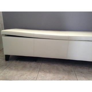Shop Lucinda Faux Leather Storage Bench On Sale Free