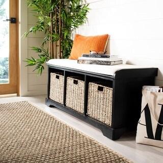 "Link to Safavieh Lonan Black/ White Storage Bench - 47"" x 16.1"" x 19.9"" Similar Items in Living Room Furniture"
