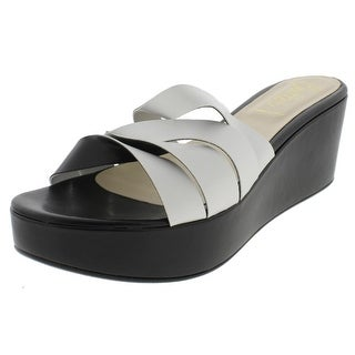 Butter Womens Fly Wedge Sandals Leather Colorblock - 41 medium (b,m)
