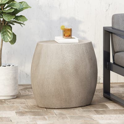 Gatsby Lightweight Concrete Side Table by Christopher Knight Home