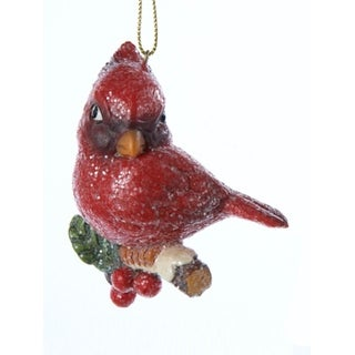 """3"""" In the Birches Vintage-Style Cardinal with Holly Berries Christmas Ornament"""