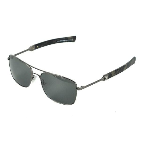 da7c1545d8d27 Roberto Cavalli Men  x27 s RC1020 Grey Metal Smoke Lens Aviator Sunglasses  RTL 310
