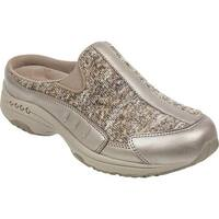 Easy Spirit Women's Traveltime Slip-on Dark Gray Metallic Suede/Knit