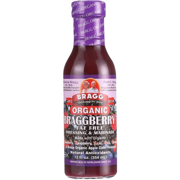 Bragg Dressing and Marinade - Organic - Braggberry - Case of 6 - 12 fl oz - 2 Pack
