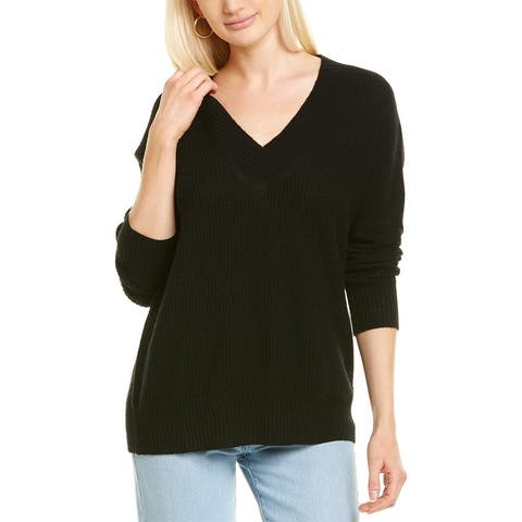 Minnie Rose Shaker Stitch Cashmere Sweater