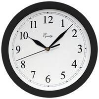 La Crosse Technology Ltd 25203 10 in. Black Plastic Wall Clock