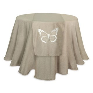 """Pack of 4 Natural Table Runner Featuring a Butterfly Design 70"""""""