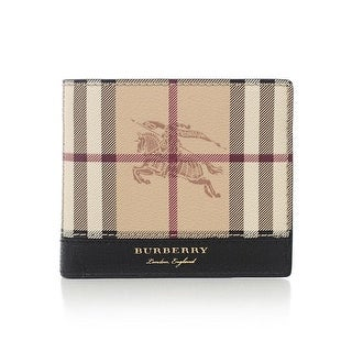 Burberry Men's Check Leather Bifold Wallet