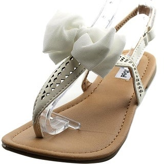 Not Rated Junbow Youth Open-Toe Synthetic White Slingback Sandal