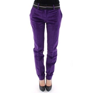 Dolce & Gabbana Dolce & Gabbana Purple Cotton Corduroys Jeans - it38-xs
