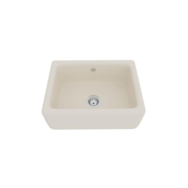 "Rohl RC2418 Shaws 24"" Farmhouse Single Basin Fireclay Kitchen Sink"