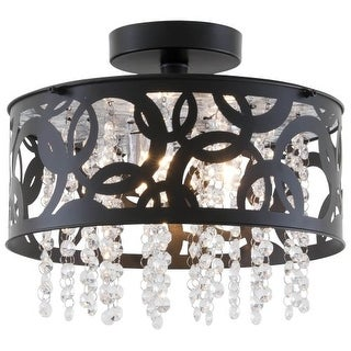 DVI Lighting DVP14711 Woodstock 3 Light Semi Flush Ceiling Fixture