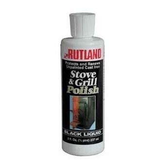 Rutland 72 Liquid Stove & Grill Polish, 8 Oz, Black
