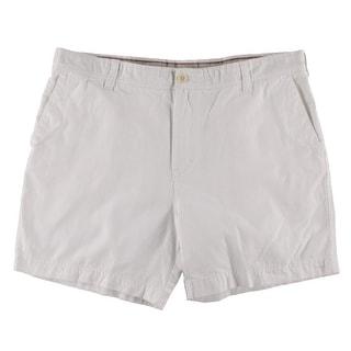 Izod Mens Flat Front Cotton Casual Shorts - 34