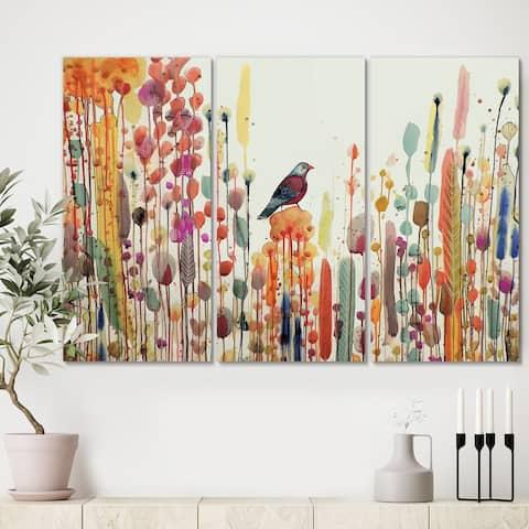 Designart 'Joie De Vivre' Premium Cottage Canvas Wall Art - 36x28 - 3 Panels