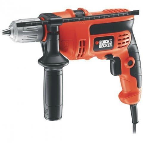 "Black & Decker DR670 Powerful & Compact Hammer Drill, 6.0 Amp, 1/2"""