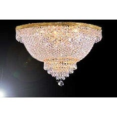 Swarovski Crystal Trimmed Chandelier Lighting Flush Basket Empire Lighting