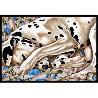 Carolines Treasures AMB1407JMAT Bed of Roses Dalmatian Indoor or Outdoor Mat 24 x 36