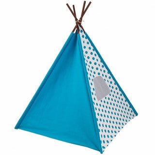 Kids Starry Skies Blue & White Canvas Teepee Play Tent
