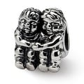 Sterling Silver Reflections Two Kids Bead (4mm Diameter Hole) - Thumbnail 0