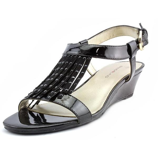 Bandolino Gissell Women Open-Toe Synthetic Black Slingback Sandal