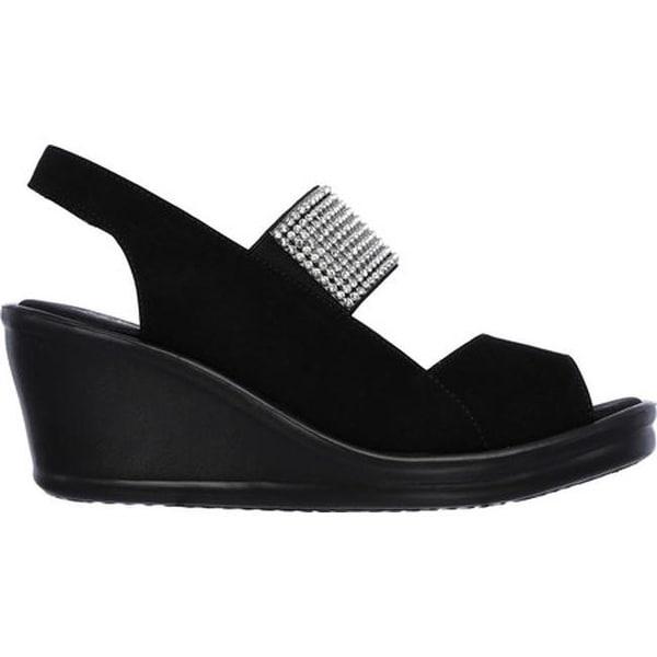 Rumblers Sparkle On Wedge Sandal Black