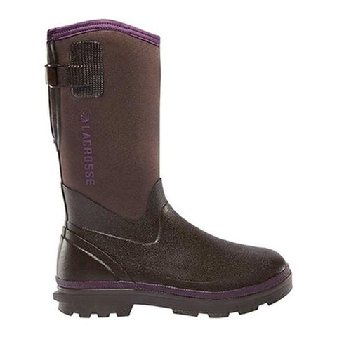 "LaCrosse Women's Alpha Range 12"" 5.0mm Boot Chocolate/Plum Rubber/Neoprene"