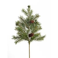 Club Pack of 36 Green and Brown Decorative Artificial Angel Pine Sprays 16""