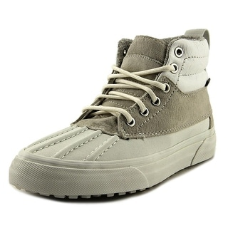 Vans Sk8-Hi Del Pato Women Round Toe Leather White Sneakers
