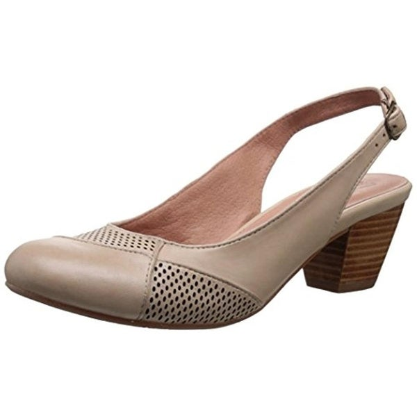 Miz Mooz Womens Faustine Leather Perforated Pumps - 9 medium (b,m)