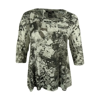 Style & Co. Women's Floral Print Swing Top