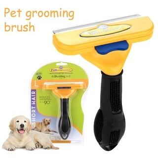 FURminator PET Long Hair deShedding Tool Large for Dogs & Cats