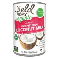 Field Day Organic Light Unsweetened Coconut Milk - Coconut Milk - Case of 12 - 13.5 FL oz.