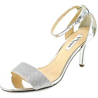 Nina Vondra Women Open Toe Canvas Silver Sandals