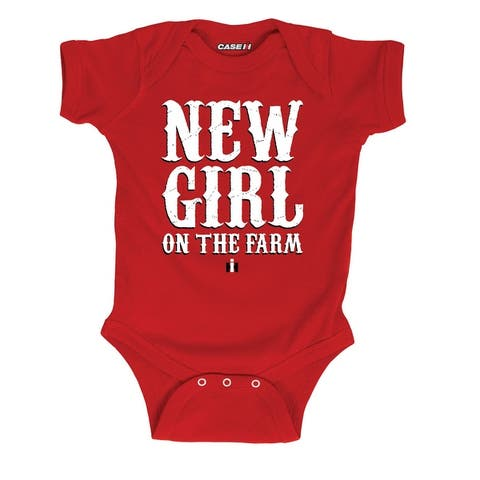 New Girl on the Farm-Case IH Infant One Piece