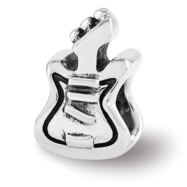 Sterling Silver Reflections Guitar Bead (4mm Diameter Hole)