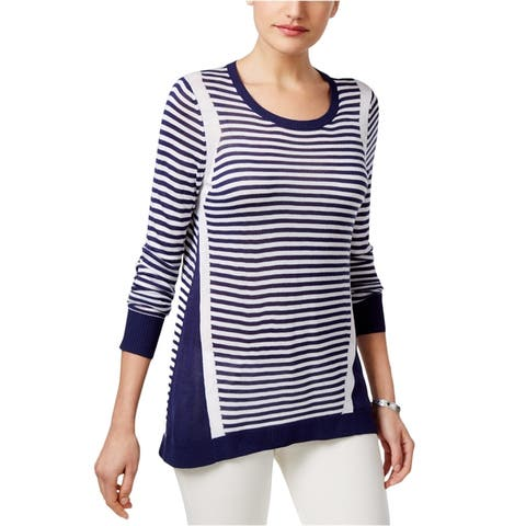 G.H. Bass & Co. Womens Colorblocked Stripe Pullover Sweater