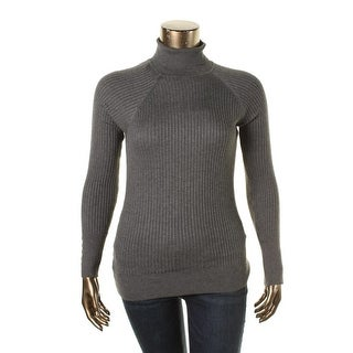 Energie Womens Juniors Wednesday Turtleneck Sweater Ribbed Knit Long Sleeves