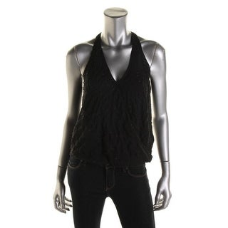 Guess Womens Beaded Sleeveless Blouse - S